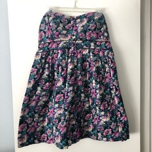 Xhilaration Floral Strapless Dress [Size: XL]
